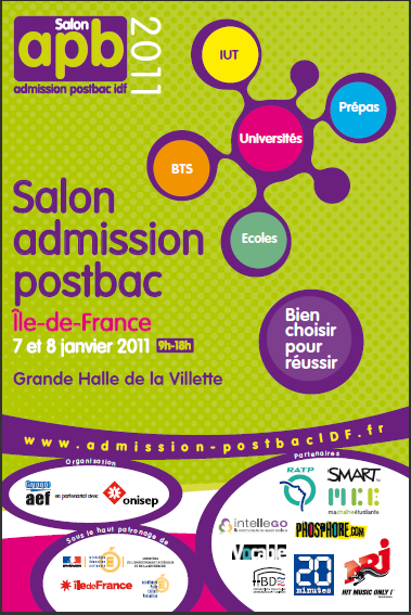 Salon admission post bac samedi apr s midi udiscover for Salon apb paris